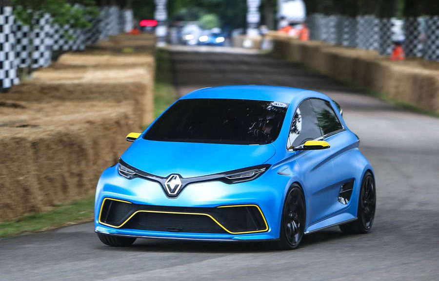 video of renault zoe e sport hitting the goodwood festival of speed track video electric. Black Bedroom Furniture Sets. Home Design Ideas